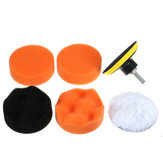 7pcs Polish Wax Foam Sponge Pad Met Booradapter
