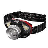 Warsun L2 LED Headlamp Super Bright 6 Modes 90° Adjustable Waterproof USB Rechargeable Motion Sensor Flashlight Cycling Fishing Headlight