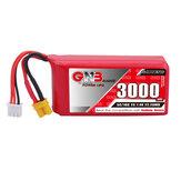 Gaoneng GNB 7,4 V 3000 mAh 5C 2S Lipo Batterie XT30 Stecker für Jumper T16/T18 RADIOMASTER TX16S Sender
