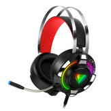 M9 7.1 Channel Gaming Headset RGB Wired Game Headphone Adjustable Bass Stereo Headset with Mic for Computer PC Gamer