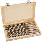 Drillpro 6pcs 6-20mm Wookworking Auger Drill Bit Set Length 230mm Woodworking Drilling Bits