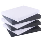 Maika 100Pcs A4 White/Black Thick Cardboard 120g Business Card Paper Painting Hard Paper Drawing Art for Students Office
