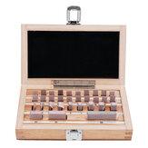 Ξύλο 32Pcs Router Table Set Up Bar with Case Metric Gage Block Set 1.005-50mm DIN861 Measuring Block Gauge