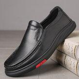 Mænd Round Toe Classic Business Casual læder sko