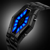 Deffrun Cobra LED Display Watch Full Steel Luminous Men Digital Watch