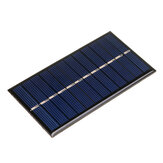 6V 1W 60 * 110mm Mini painel solar policristalino Epoxy Board para DIY Learning