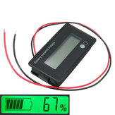 3 stuks 12V / 24V / 36V / 48V 8-70V LCD zuurlid lithium batterij capaciteitsindicator digitale voltmeter