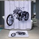 180x180cm водонепроницаемый прохладно мотоцикл полиэстера занавески для душа ванной декор с 12 крючками