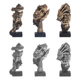 16.5cm Modern Resin Figure Statue Abstract Sculpture Craft Art Home Ornament