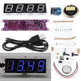 Geekcreit® EC1840 DS3231 Vermelho / Verde / Azul / Branco DIY Light Control Broadcasting Time Música Eletrônica Relógio Kit Sem Habitação
