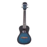 Andrew 23 Inch Mahogany High Molecular Carbon String Dark Blue Ukulele for Guitar Player
