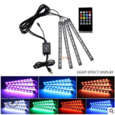 LED Car Foot Light Ambient Lamp USB Wireless Remote Music Control Automotive Interior Dekoracyjne światła