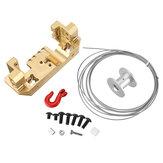 Support de support de servo avant en laiton avec kit de roue de treuil 25T pour pièces de rechange RC Crawler 1/10 TRX4