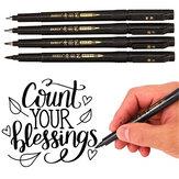 Baoke 12 adet / kutu Kaligrafi Kalem Set Eklenebilir Mürekkep Esnek Dolum Kırtasiye Yazma Çizim İmza Sanat Ofis Malzemeleri