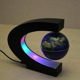C façonner lévitation magnétique flottant carte globe du monde avec LED lumières