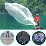 Rededaiscadospeixesda rotação Nylon da rede de pesca do molde da mão de 2.4M / 3.6M com coletor