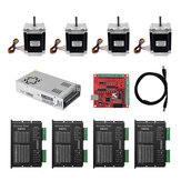 TWO TREES® 7628 Stepper Motor 4Pcs Set with DM542 Driver MACH3 Control Board 360W24V Power Supply CNC DIY Kit for 3D Printer