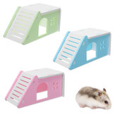 Pet Mouse Hamster House Villa Cage Bed Liftable Ladder Window Nest Jouet d'exercice