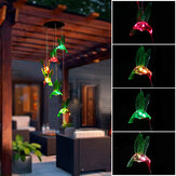 Original              Solar LED Bird Wind Chime Gardening Decoration Outdoor Decoration Automatic Induction Belt Hook