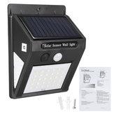 ImpermeableIP44SolarMovimientoSensorLuces Inducción del cuerpo humano Solar Pared Lámpara al aire libre Patio de jardín Lámparas