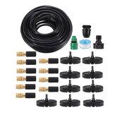 25Pcs Sistema de Irrigação por Gotejamento Micro Irrigação por Gotejamento Kit DIY Pátio Planta Kit de Rega Sistema de Irrigação de Jardim 15m Mangueira