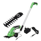2000mAh Grass Shear Shrubber Handheld Trimmer Recahrgable Weeder Pruning Mower Grass Shears Hedge Trimmer for Cutting Lawn Grass Cutting Machine