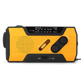 Portable AM FM NOAA Radio Solar Crank Emergency Weather Flashlight Rechargeable Power Bank for iPhone