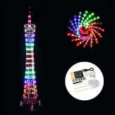 DIY WiFi(APP Version) bluetooth Colorful Canton Tower LED Lighting Cube Music Spectrum Electronic Kit