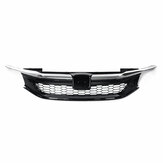 Front Grille Chrome Black Sport Style  For Honda Accord 9th Sedan JDM 2016-2017