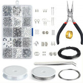 15 Grid Jewelry Accessories Combination Set Earring Necklace Jewellery Making Kit Wire Findings Pliers Repair Tools