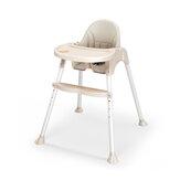 Baby Hochstuhl Cabrio Tisch PU Ledersitz Booster Kleinkind Fütterung Hochstuhl verstellbar