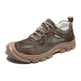 الرجال في الهواء الطلق مش الجلد المدبوغ مريح تنفس أحذية المشي لمسافات طويلة عارضة