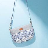 Nationale stijl stiksels schoudertas crossbody tas voor vrouwen