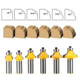 6pcs 1/2 Inch Shank Round Over Edging Router Bit