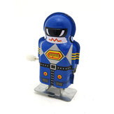 Classics Vintage Clockwork Wind Up Magic Boy Robot Reminiscence Children Kids Tin Toys