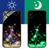 Bakeey 3D Night Luminous Tempered Glass Protective Case for iPhone X