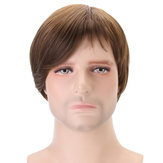 Claybank Men Short Straight Hair Natural Mencari Wig