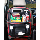 Car Leather Storage Back Seat Multi-Pocket Organizer Folding Holder Pocket Sack