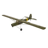 S21 Fieseler Fi156 Storch V2.0 1600mm 1.6M Wingspan Balsa Wood RC Airplane Complete Version Kit with Power System