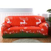 2/3/4 местный рождественский чехол для дивана, эластичный протектор для сиденья из лося, эластичный диван Чехол, чехол для дома, офиса, мебель