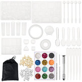 83x Silicone Resin Casting Mold Tool Sets Kit DIY Pendant Jewelry Bracelet Making