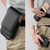 Man Business PU Phone Bag Card Bag Wallet Purse Dual Use Waist Bag