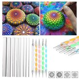 13Pcs Mandala Punteggi Strumenti Set Rock Painting Kit Chiodo Art Pen Paint Stencil