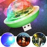 Mini USB RGB LED Bola de iluminação de palco de discoteca Colorful Decoração de festa com lâmpada ambiente