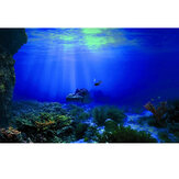 Underwater World Aquarium Background Fish Tank Decorations Picture Adhesive Poster Home Office Decor
