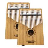 GECKO K17BA 17 tuşları Kalimba Bambu B Ton Başparmak Piyano Parmak Ile Dinle Hammer