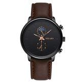 YOLAKO A0540 Masculino Fashion Style Wodoodporny męski skórzany pasek zegarek kwarcowy