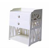 Szafki rzeźbione Szafki nocne 40x30x50 cm Proste szafki nocne z dwiema szufladami