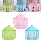 Portable Princess Castle Gioca Tenda Attività Fata House Divertimento Gioca House Toy 55.1x55.1x53.1 Pollici
