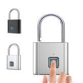 IPRee指紋スマート南京錠0.5sクイックロック解除亜鉛合金金属キーレスUSB充電式インテリジェントドアロック